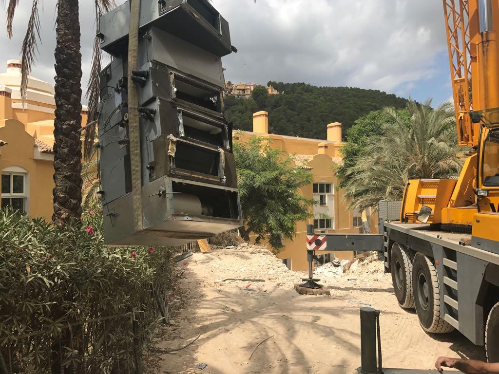 retirada maquinas aire acondicionado en altea hills hotel por union-met 7